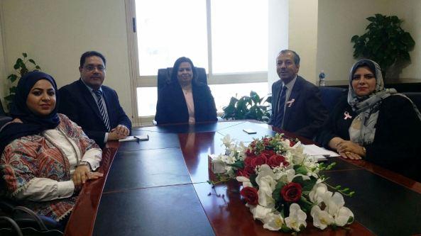 الاجتماع مع مسؤولي وزارة الصحة